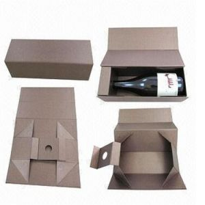 Rigid Paper Wine Packing Carrier Box with Magnet Closure