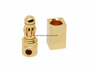 3.5mm Gold Bullet Banana Connector Plug (HX-BP-07)
