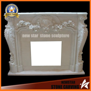 White Marble Fireplace Mantel Fireplace Surround for Home Decoration pictures & photos