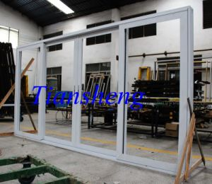 Aluminum Double Glass Powder Coated Thermal Break Sliding Door pictures & photos