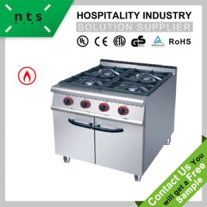 4 Gas Burner with Cabinet for Hotel Restaurant Western Kitchen Equipment pictures & photos