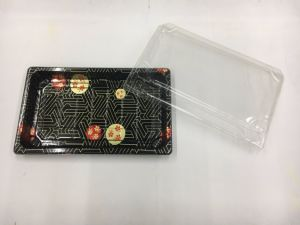 Take out Sushi Tray with Transparent Lid