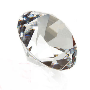 Diamond Crystal Paperweight for Wedding Gift