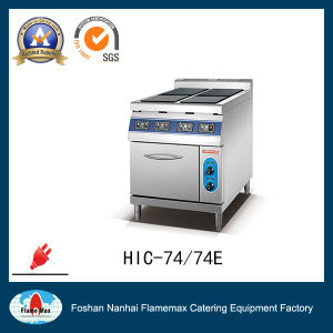 4 Plate Commercial Indution Cooker with Electric Baking Oven (HIC-74E) pictures & photos