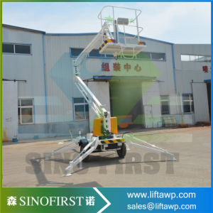 12m Mobile Light Duty Street Light Trailed Portable Man Boom Lift pictures & photos