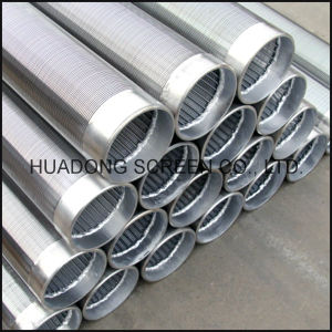 Johnson Continous Slot Stainless Steel V Wire Wraped Screens Wedge Wire Water Well Screen pictures & photos