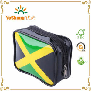 Custom Brazil Style Glossy Black PVC Vinyl Makeup Purse Toiletry Pouch Cosmetic Organizer Bags Available for Personalize pictures & photos