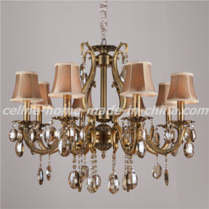 Zinc Crystal Chandelier with Fabric Shade (SL2116-8) pictures & photos