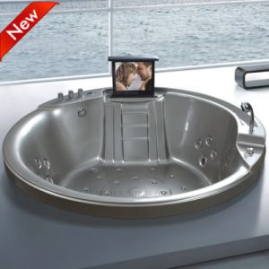 New Design Freestanding Round Corner Walk in SPA Bathtub (SR5C002) pictures & photos