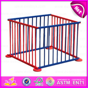 2015 Colorful Popular Wooden Playpen for Baby, Portable Wooden Baby Square Playpen, Safety Care Wooden Baby Safety Fence W08h011 pictures & photos