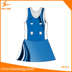 Customized Sublimation Netball Dress with High Quality Netball Jerseys pictures & photos