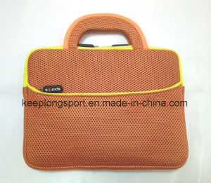 Fashionable Neoprene Add Mesh Material Laptop Bag with Handle