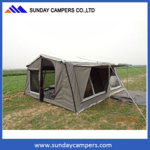High Quality Polycotton Ripstop Canvas Folding Camper Trailers Tents pictures & photos