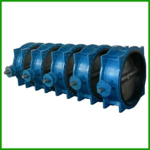 Bare Shaft Double Flange Rubber Seal Butterfly Valve pictures & photos