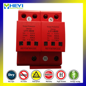 420V 80ka 2pole Surge Protective Device Chinese Photovoltaic Surge Arrester pictures & photos