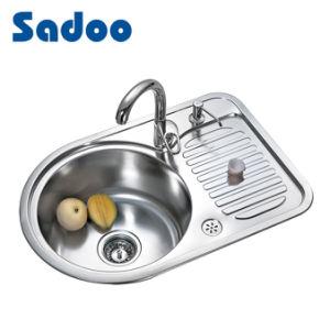 Premium Single Kitchen Round Sink W Small Size Drainboard Sd 937