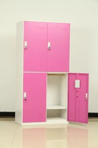 Steel Furniture Manufacturer 4 Door Locker with Shelf and Clothes Hanger pictures & photos