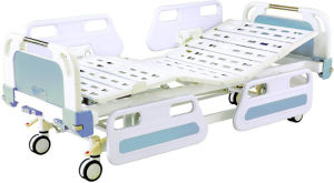 Hospital Furniture Two Funtion Movable Full-Fowler Medical Bed pictures & photos