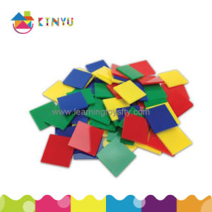 Math Toy/Plastic Inch Color Tiles pictures & photos