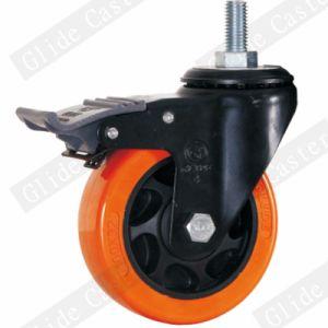 Medium Duty PU Swivel Caster Wheel (Orange) (G3206E) pictures & photos