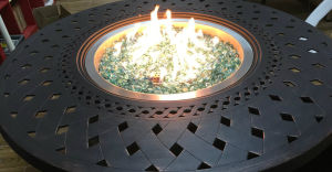 48-Inch Round Cast Aluminum Fire Pit Table pictures & photos