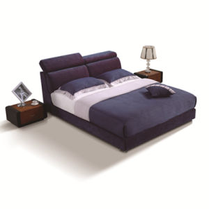 Blue Fabric Bed Hotel Living Room Modern Bedroom Furniture Fb8043A pictures & photos