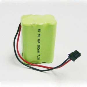 NiMH AAA 7.2V Rechargeable Battery Packs for Small Home Appliances pictures & photos