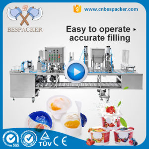 8 Water Cups Yogurt Filling Sealing Packing Machine with Ce pictures & photos