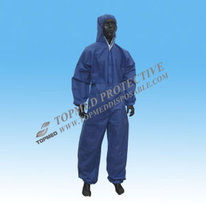 Free Sample One-Piece Coverall with Head Cover pictures & photos