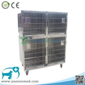 Ysvet8103 Hospital Clinic 304 Stainless Steel Pet Dog Crates Dog Cage Aluminium pictures & photos