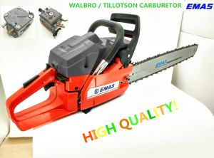 Hot Sale Emas Chain Saw with Original Walbro or Tillotson Carburetor Motosierra with Ce 61.5cc H61 pictures & photos