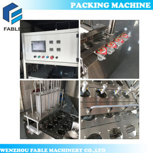 Salad and Paste Cup Sealing Machine (VFS-4C) pictures & photos