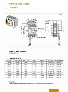 World-Wide Shaded Pole Motor Small Fan Motor Wholesale Exhaust Fan Motor Exporter pictures & photos