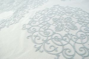 Chinese Style Flocked Nylon Fabric pictures & photos
