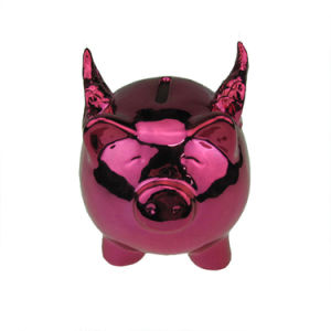 Lovely Pink Ceramic Pig Piggy Bank for Home Decoration pictures & photos