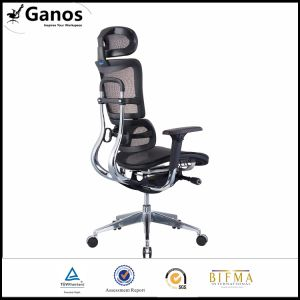 Comfortable Mesh Swivel Office Chair with Footrest pictures & photos