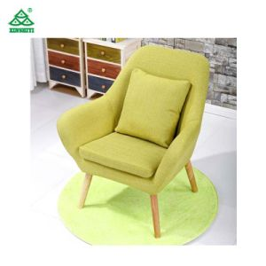 Windaze Living Room Chair, MID Century Modern Retro Leisure Fabric Accent Dining Chair with Buttons and Solid Bentwood Legs, pictures & photos