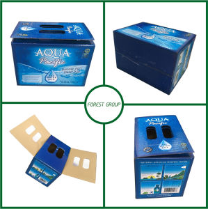 Customized Liquid Paper Shipping Box with Handle Wholesale pictures & photos