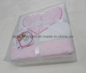 Applique Coral Fleece Baby Blanket pictures & photos