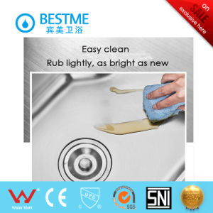 Round Shape Double Basin Stainless Steel Kitchen Sink (BS-8005-201P) pictures & photos