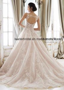 Blush Pink Bridal Ball Gown Lace Applique Corset Custom 2018 Wedding Dresses M40277 pictures & photos