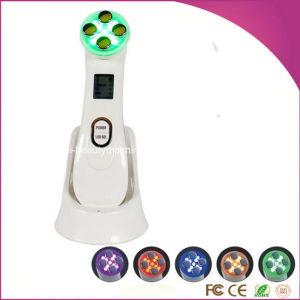 5 in 1 Ultrasonic Photon Device Facial Skin Lifting Rejuvenation Machine Mesotherapy Electroporation RF Radio Frequency Massager pictures & photos