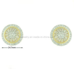 Hot Selling Gold Plated Brass Jewelry Stud Earrings (KE3017) pictures & photos