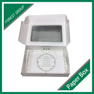 White Folded Candy Paper Box with PVC Window pictures & photos