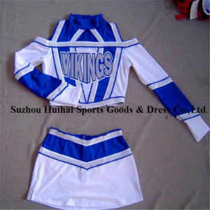 2017 Spandex Cheerleading Long Sleeve Uniforms pictures & photos