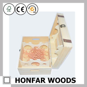 6 Bottles Wood Packaging Box Wooden Wine Box Gift Box pictures & photos