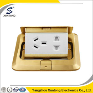 Hot Sell Multifunctional Outlet Floor Socket Brass Floor Socket Box pictures & photos