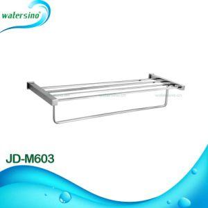 Jd-M603 Brass Bath Rack Multifunctional Towel Rack Square-Shape Design Towel Holder pictures & photos