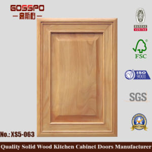 Simple Solid Wood Kitchen Cabinet Door (GSP5-029) pictures & photos
