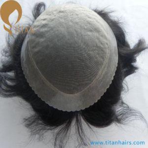 Scallop Front Human Hair Mono Toupee for Men pictures & photos